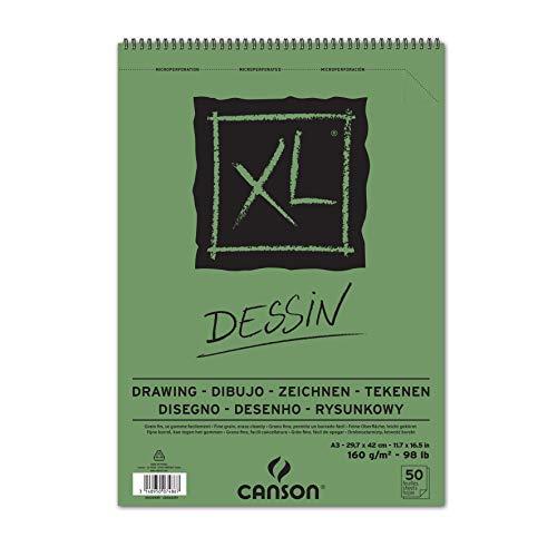 Canson 400039089 - Bloc de dibujo, A3, 29.7 x 42 cm