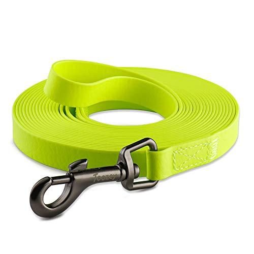 Toozey Schleppleine für Hunde, 5m /10m / 15m Schleppleine mit Handschlaufe und Netztasche, Wasserdicht Trainingsleine für Große bis Kleine Hunde, Robuste Hundeleine