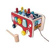 2 in 1 buntes Holz Klopfen Hamster Bus mit Hammer, Babys/Kleinkinder Whack-A-Mole-Spiel,...