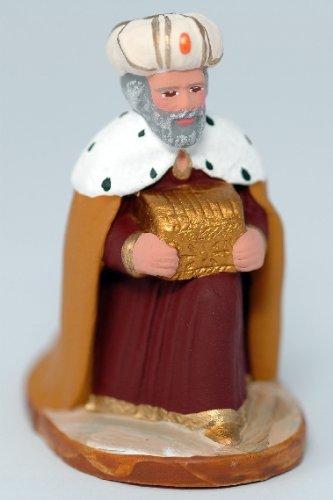 Arterra - Santons de Provence - Roi Mage à genoux Melchior - Collection 7 cm