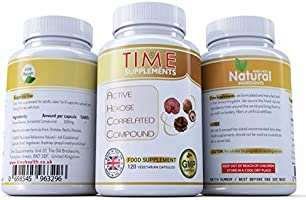 Active Hexose Correlated Compound (AHCC) Time Health Supplements 120 Kapsül 500 mg