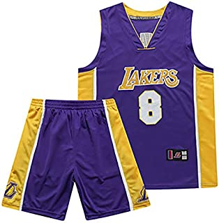 Adolescentes JAMES23 Color : Purple, Size : S Estudiantes Mangas Cortas Hombres Blanco Shelfin Jersey De Hombre Camiseta De La NBA Los Angeles Lakers James # 23 Baloncesto