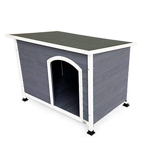 """A4Pet Waterproof Wooden Dog House Outdoor Used for Medium and Large Dog, 45.5"""" L X 31"""" W X 33"""" H"""