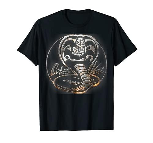 Cobra Kai Rusted Steel Snake Logo Graphic T-Shirt