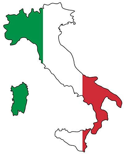 Samunshi® Italien Aufkleber Autosticker in 10 Größen (8x10cm Color_Title)