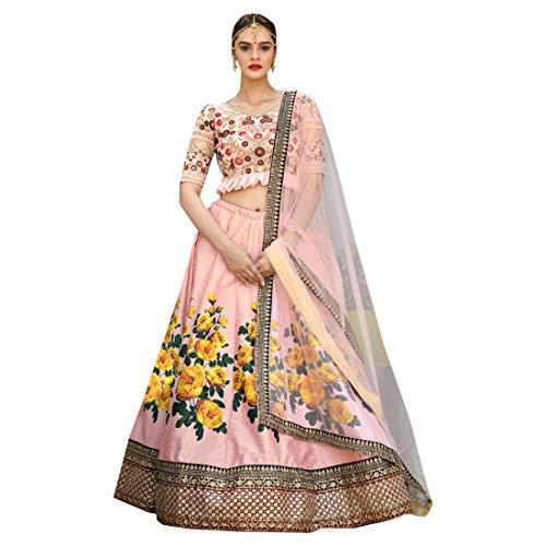 Indische Bollywood Designer ausgefallene Seide Lehenga Choli stilvolle Mädchen Damen Party Cocktail tragen Ghagra Kleid 9087