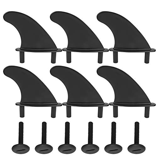Reemplazo Respetuoso con el Medio Ambiente de la Aleta Skeg, Tabla de Surf de Aleta Blanda de PVC PVC Negro, Tabla Superior Skeg para Practicar Surf(Surfboard softboard Tail Rudder)