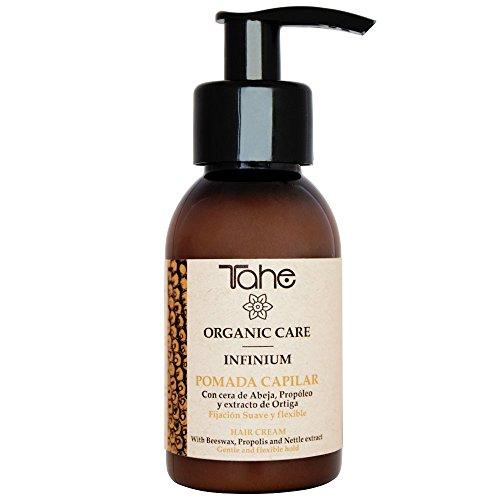 Tahe Organic Care Pomada Capilar/Cera de Pelo Infinium de Fijación Suave y Flexible, Sin Residuos 100 ml