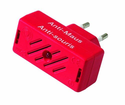 ISOTRONIC Mäusevertreiber/Nagetier Vertreiber mit Ultraschall, Abwehr gegen Mäuse und Ratten, elektrisch, Tiervertreiber ohne Mausefalle und Rattengift