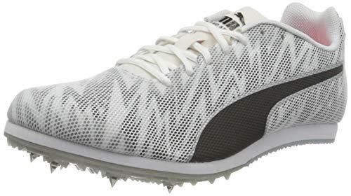 PUMA Unisex Evospeed Star 7 Junior Leichtathletik-Schuh, Weiß White Black Silver, 39 EU