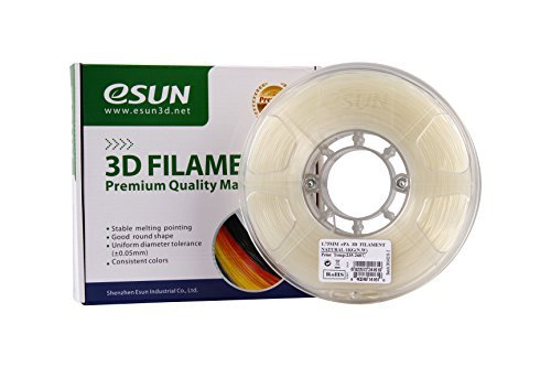 eSUN ePA 1.75mm Nylon 3D Printer Filament Natural 1kg Spool (2.2lbs) Spool, Natural ePA