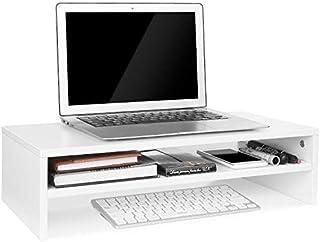 EBTOOLS Support pour Moniteur/Rehausseur dEcran Support pour R/éhausseur Ordinateur Portable PC pour Bureau Meuble de Rangement pour Table Blanc Petit