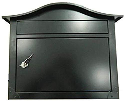 B-fengliu Große Außen Außen Stahlwandhalterung Mailbox Vertikale Post Box mit Schloss an der Tür Letterbox Post Locking Postbox