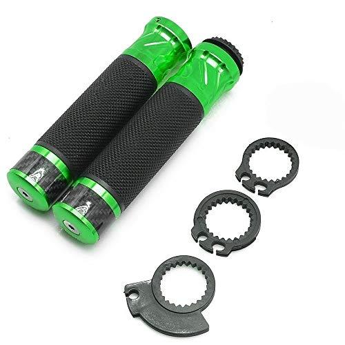 JHZC Bici del Motor Modificado Asa Plegable Retro-Bar Espejo Retrovisor Espejos Laterales Moto para Suzuki Mano del Protector De La Mano (Color : Green)