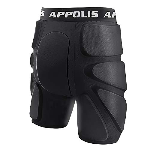 3D Protective Padded Shorts for Snowboard,Skate,Impact Pads Hip Protection Black