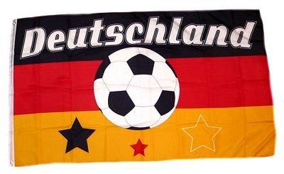 Fahne / Flagge Deutschland Fußball 10 NEU 90 x 150 cm