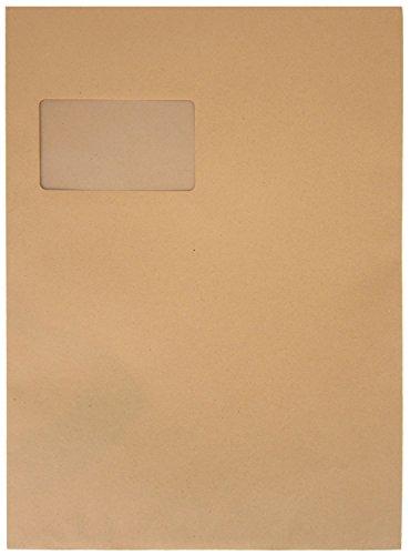 Preisvergleich Produktbild Idena 10239 - Versandtasche DIN C4,  90 g / m²,  selbstklebend,  FSC-Recycled,  natron-braun,  250 Stück