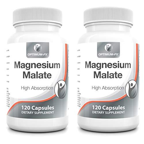 Magnesium Malaat Capsules Geen Tabletten Biologisch Beschikbaar Mineraal Supplement Makkelijk in te Nemen Magnesium Heeft 10 Tien EU Goedgekeurde Gezondheidsclaims 280 mg x 120 Veganistische Capsules