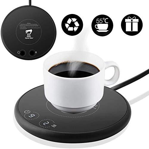 Spardar Tassenwärmer Getränkewärmer, elektrischer Kaffeewärmer, mit Zwei automatischen Temperaturreglern mit Schwerkraftsensor für den Büro- oder Heimgebrauch mit elektrischem Tassenboden