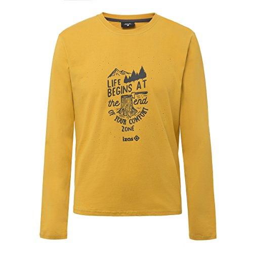 IZAS Arosa T-Shirt en Coton Homme, Miel Clair/Gris Foncé, FR : L (Taille Fabricant : L)