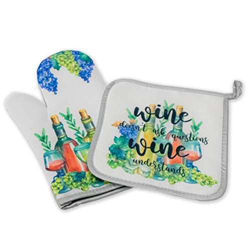 Decorative Kitchen Hot Plate Pot Holder Oven Mitt Set Wine And Grapes Purple Green Novelty Spring Summer Fall White Home Decor Holiday Decorations Xmas Gift Present From Amazon Accuweather Shop