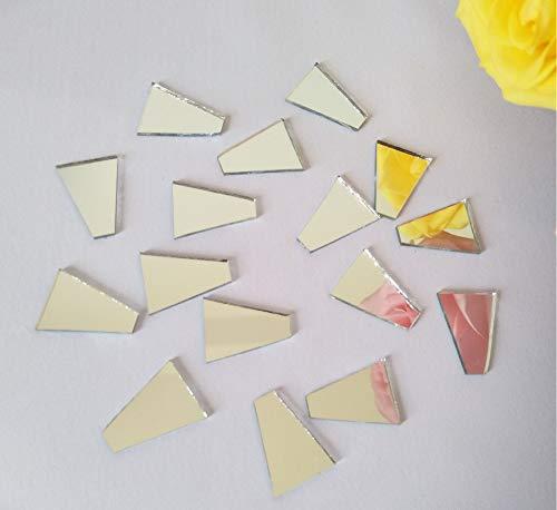 100 STKS Trapezoïde Glas Spiegel Mozaïek, Mozaïek Zilver Echte Spiegel Glas Tegels, Trapezoïde Spiegel Mozaïek Tegels 5x15x20mm