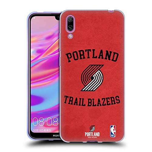 Officiële NBA Verschrikt 2019/20 Portland Trail Blazers Soft Gel Case Compatibel voor Huawei Enjoy 9 (2018)