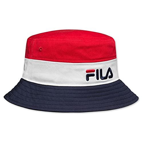 FILA Unisex Blocked Bucket HAT Fischerhut, Clematis Blue-Biscay Green-Bright White, OneSize