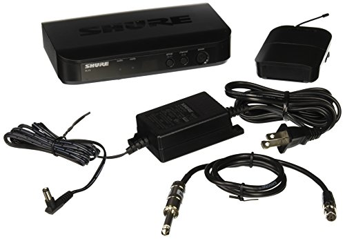 Shure BLX14 Bodypack Wireless System with WA302 Instrument Cable, H9