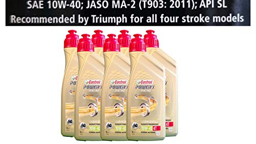 Castrol Power 1 Racing 4T 10W-40 motorolie 7x1 liter Specificaties API SJ JASO MA2