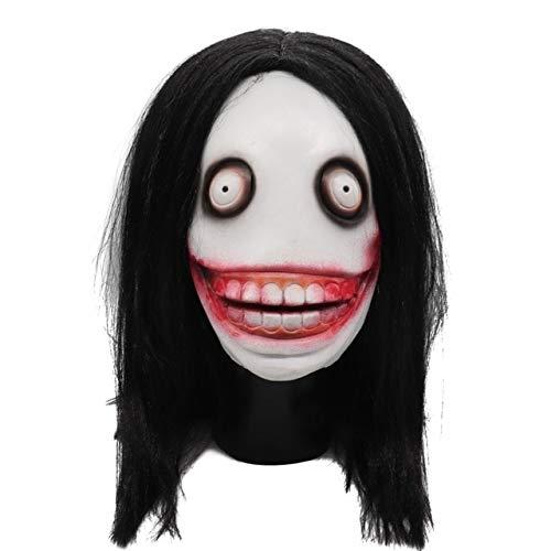 HUANGZHENYIN Maske Cosplay Horror Beängstigend Clown Maske Halloween Latex Maske Party Kostüm Porzellan Kopf Weniger 64cm