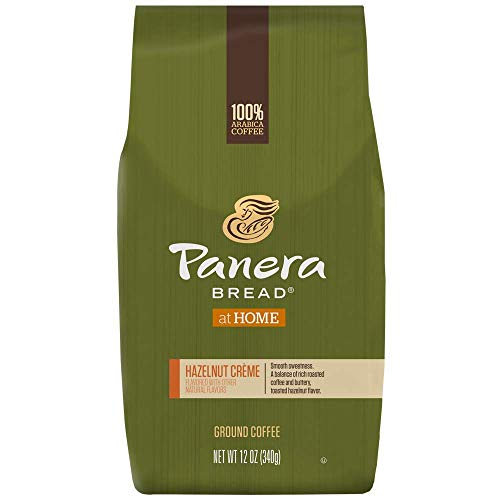 Panera Bread, Hazelnut Creme, 12 oz. Ground Bag, Light Roast Coffee, (6) Bags
