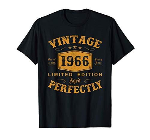 55 Años Cumpleaños Hombre Regalo Vintage 1966 Nacido En 1966 Camiseta