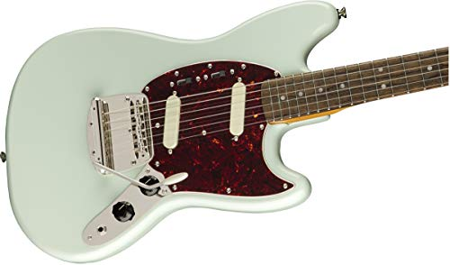Squier by Fender Classic Vibe 60's Mustang Electric Guitar - Laurel - Sonic Blue