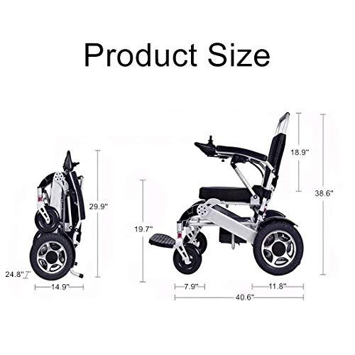41LOnR+LdaL - WISGING 2020 Silla de ruedas eléctrica portátil plegable ligera plegable Deluxe Potente motor twin Silla de ruedas compacta con ayuda de movilidad - Pesa solo 59 lbs con batería - Soporta 286 lbs
