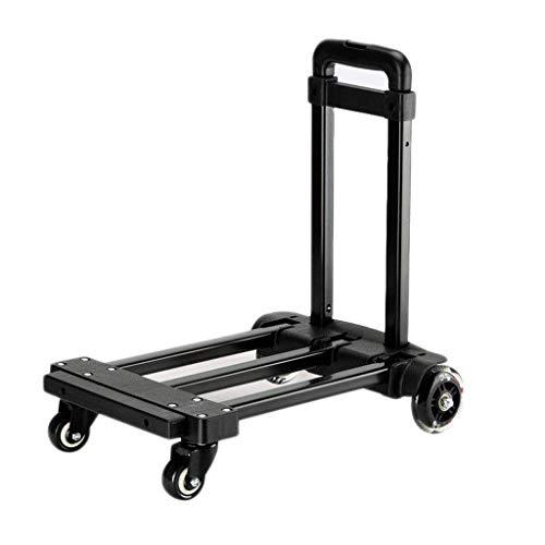 LLSS Handwagen, tragbarer Einkaufswagen, zusammenklappbarer Einkaufswagen, Anhänger, Mehrzweck-Gepäckwagen, geeignete Handhabung Schwerer Güter