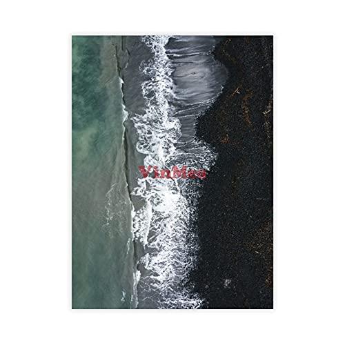 VinMea Lienzo envuelto de impresión de dron de Talisker Bay en la isla de Skye Lienzo para pared de decoración del hogar, dormitorio, sala de estar, 40,6 x 60,9 cm