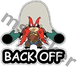 2x Yosemite Sam Back Off Sticker Decal Aufkleber Windows Bumper Car Truck Cartoon Laptop