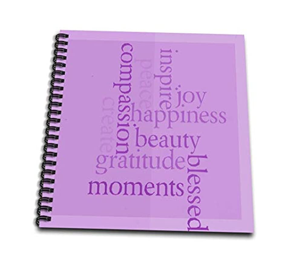 3dRose db_37947_2 Inspire Happiness and Gratitude Pink- Inspirational Words- Motivational-Memory Book, 12 by 12