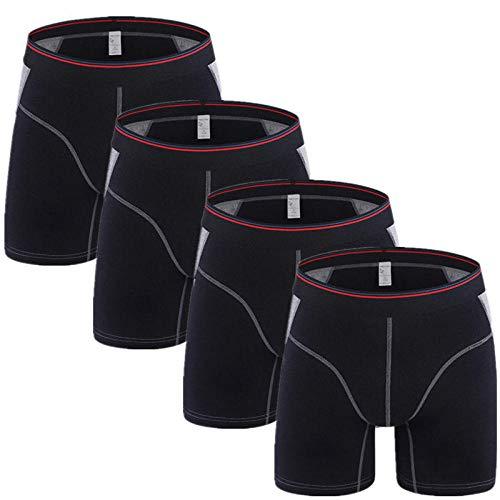 Heren slips 4Pcs/Lot Men Underwear Boxer Man Ice Silk Underpants Trunk Panties Male Shorts for Men Funny Boxers Style F