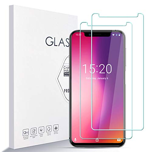 A ANGG Screen Protector per UMIDIGI One PRO[2 Pezzi] di Alta qualità Durezza 9H Vetro Temperato AntiGraffio Screen Protector Rotondo 2.5D Anti-Bubble Facile da Installare Supporto 3D