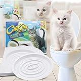 Suministros para mascotas Aseo para mascotas Entrenador para ir al baño Entrenador para inodoro diseñado para resolver los problemas fisiológicos de los gatos - Colorido