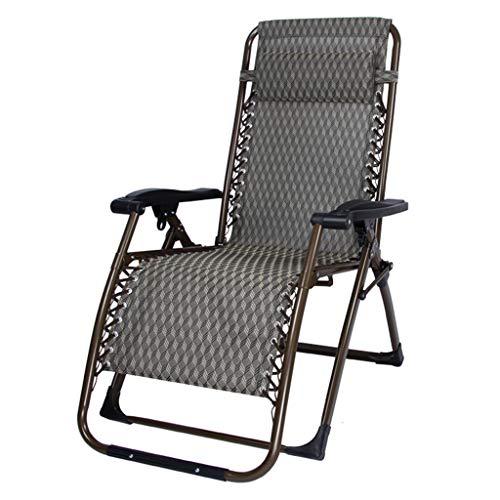 Fauteuil de terrasse de repos extérieur pour chaises de patio inclinable pliant réglable en textile résistant aux intempéries pour la piscine de véranda (Couleur : B)