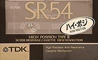 TDK カセットテープ ハイポジション SR54 デジタル対応 54分 高精度・低共振性 SR-54K