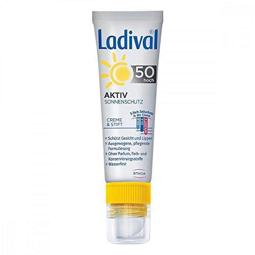 LADIVAL Aktiv Sonnenschutz f.Gesicht u.Lipp.LSF 50 30 ml