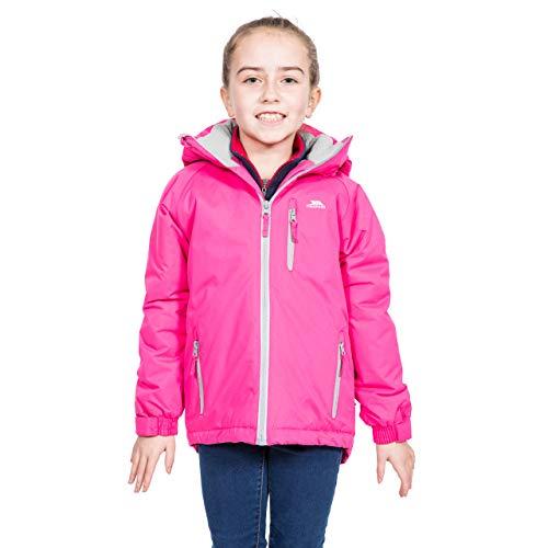 Trespass Cornell II Warme gewatteerde waterdichte regenjas, functionele jas, weerjas met afneembare capuchon voor kinderen, uniseks, meisjes en jongens