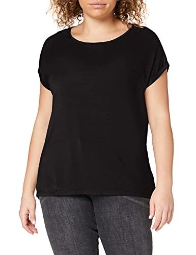 Vero Moda NOS Damen Vmava Plain Ss Top Ga Noos Bluse, Schwarz (Black), 40 (Herstellergröße: L)