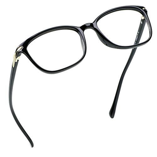 LifeArt Blaulicht-Schutzbrillen, Computer-Lesebrillen, Spielbrillen, TV-Brillen für Frauen, Männer, Blendschutz(Schwarz, Nein Vergrößerung)