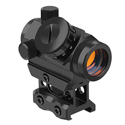 Feyachi Red Dot Sight 4 MOA Micro Red Dot Gun Sight Rifle Scope with 1 inch Riser Mount