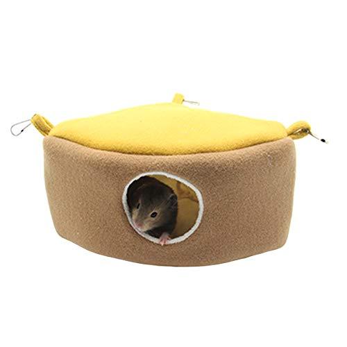 Hamster Betthaus Kleintiere Hängematte Hängen Kuchenform Betthaus für Igel Chinchilla Nest Zubehör